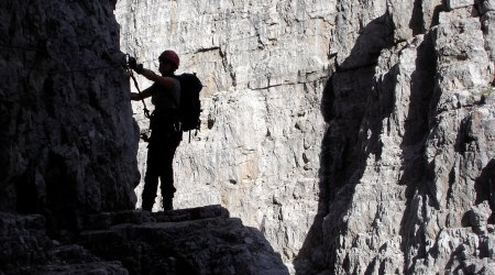 via ferrata on Dolomites